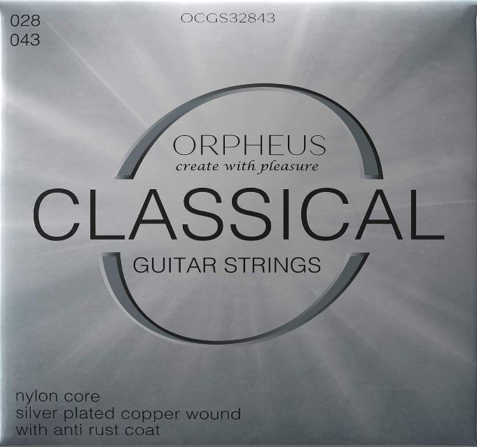 ORPHEUS Classical Guitar Strings 028 043 Silver Plated Cooper Wrapped Anti Rust Coating
