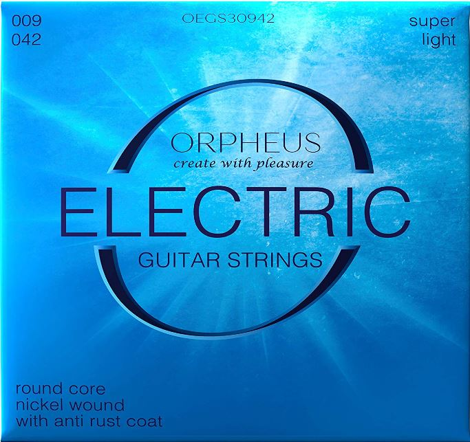 ORPHEUS Electric Guitar Strings 009 042 Nickel Wound Anti Rust Coating
